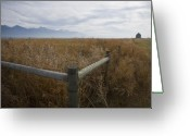 Prairie Landscape Greeting Cards - Big Sky Corner Post Greeting Card by Idaho Scenic Images Linda Lantzy