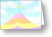 Little Boy Photo Greeting Cards - Big Top in the Sky Greeting Card by Amy Tyler