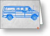 Funny Car Greeting Cards - Big Van Greeting Card by Irina  March