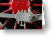 Steam Engine Greeting Cards - Big Wheel Greeting Card by Dan Holm