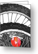 Mj Greeting Cards - Big Wheels Keep on Turning Greeting Card by Jerry Cordeiro
