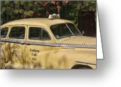 Kevin Sherf Greeting Cards - Big Yellow Taxi Greeting Card by Kevin  Sherf
