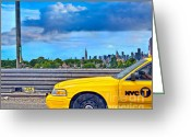 Hyper Realism Greeting Cards - Big Yellow Taxi Greeting Card by Marianne Campolongo