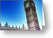 Featured Greeting Cards - #bigben #uk #england #london2012 Greeting Card by Abdelrahman Alawwad