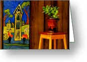 Board Fence Greeting Cards - BigEasy Greeting Card by Robert Trauth