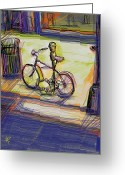 Recreation Mixed Media Greeting Cards - Bike at Rest Greeting Card by Russell Pierce