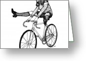 Wheels Greeting Cards - Bike Fun Greeting Card by Karl Addison