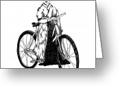 Bicycle Greeting Cards - Bike Geisha Greeting Card by Karl Addison
