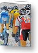 Tour De France Greeting Cards - Bike Map 2 Greeting Card by Michael Lee