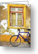Tire Greeting Cards - Bike Window Greeting Card by Carlos Caetano