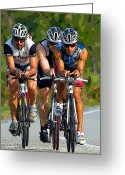 Sports Art Photo Greeting Cards - Biking Art Greeting Card by Wild Expressions Photography