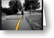 Bicycle Greeting Cards - Biking Home Greeting Card by Natasha Marco