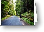 Bicycle Greeting Cards - Biking In The Catskills Greeting Card by Natasha Marco