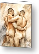 Male Greeting Cards - Bill and Mark Greeting Card by Chris  Lopez
