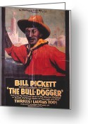 Cowboy Hat Photo Greeting Cards - Bill Pickett (1870-1932) Greeting Card by Granger