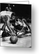 African American Greeting Cards - Bill Russell (1934- ) Greeting Card by Granger