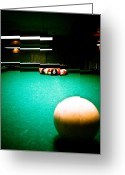 Cue Ball Greeting Cards - Billiards 01 Greeting Card by Michael Knight