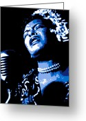 R Greeting Cards - Billie Holiday Greeting Card by Dean Caminiti
