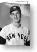 New York Yankees Greeting Cards - Billy Martin (1928-1989) Greeting Card by Granger