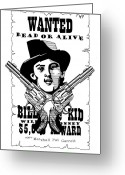 Freedom Fighter Brand Greeting Cards - Billy the Kid Greeting Card by Scarlett Royal