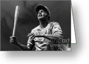 Wrigley Field Greeting Cards - Billy Williams - H O F Greeting Card by David Bearden