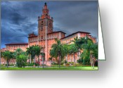  Biltmore Hotel Greeting Cards - Biltmore Hotel Coral Gables Miami Greeting Card by Miguel Diaz