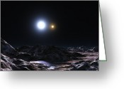 Binary Stars Greeting Cards - Binary Star Alpha Coronae Borealis Greeting Card by Andrew Taylor