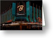 Fremont Street Greeting Cards - Binions Vegas Greeting Card by David Lee Thompson