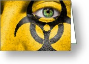 Infectious Agent Greeting Cards - Biohazard Greeting Card by Semmick Photo
