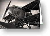 Twenties Greeting Cards - Biplane Greeting Card by Carlos Caetano