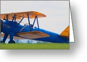 Diane Berry Digital Art Greeting Cards - Biplane Glory Greeting Card by Diane E Berry