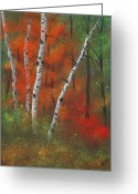 Woods Pastels Greeting Cards - Birches II Greeting Card by Garry McMichael