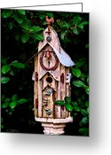 Christopher Holmes Greeting Cards - Bird House Greeting Card by Christopher Holmes