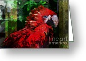 Talking Birds Greeting Cards - Bird of Exotic Color Greeting Card by Christine Mayfield