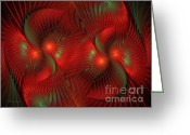 Math Greeting Cards - Bird Of Paradise Abstract Greeting Card by Zeana Romanovna
