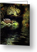 Cavern Greeting Cards - Birdcave Greeting Card by Carl Rolfe