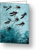 Surrealist Digital Art Greeting Cards - Birdeeze -v03 Greeting Card by Variance Collections