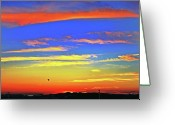 Duncan Pearson Greeting Cards - Birds in Nantucket Sunset from Eat Fire Spring Greeting Card by Duncan Pearson