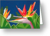 Plants Greeting Cards Greeting Cards - Birds of Paradise Greeting Card by Terry Taylor