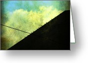Pdx Art Greeting Cards - Birds on a ledge Greeting Card by Cathie Tyler
