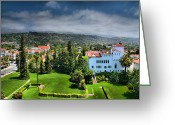 Acrylic Print Greeting Cards - Birdseye View of Santa Barbara I Greeting Card by Steven Ainsworth
