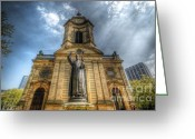 Birmingham Greeting Cards - Birmingham Cathedral 1.0 Greeting Card by Yhun Suarez