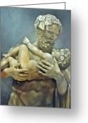 Greek Sculpture Painting Greeting Cards - Birth of Bacchus Greeting Card by Geraldine Arata