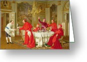 Cardinals Greeting Cards - Birthday Greeting Card by Andrea Landini 