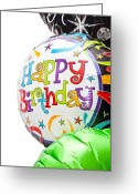 Award Greeting Cards - Birthday balloons Greeting Card by Tom Gowanlock