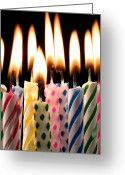 Lit Greeting Cards - Birthday candles Greeting Card by Garry Gay