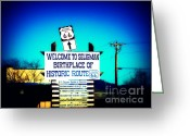 The Mother Road Greeting Cards - Birthplace of Route 66 Greeting Card by Susanne Van Hulst