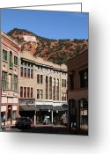 Elizabeth Rose Greeting Cards - Bisbee Arizona Historic Buildings Greeting Card by Elizabeth Rose