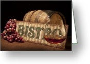 Cask Greeting Cards - Bistro Still Life II Greeting Card by Tom Mc Nemar