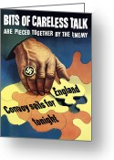 Loss Digital Art Greeting Cards - Bits Of Careless Talk Greeting Card by War Is Hell Store